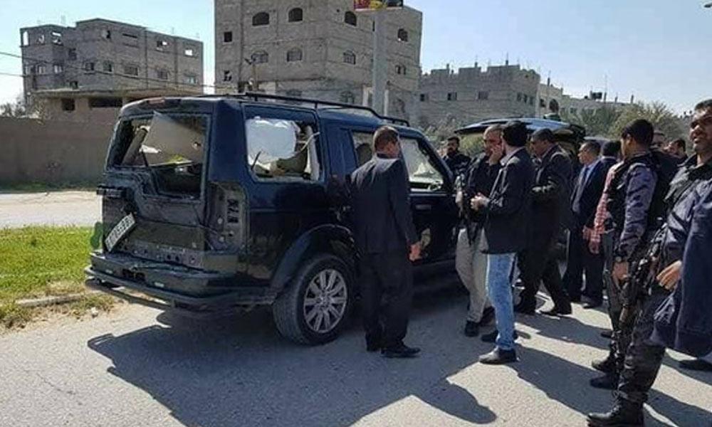 فلسطینی وزیراعظم قاتلانہ حملے میں بال بال بچ گئے