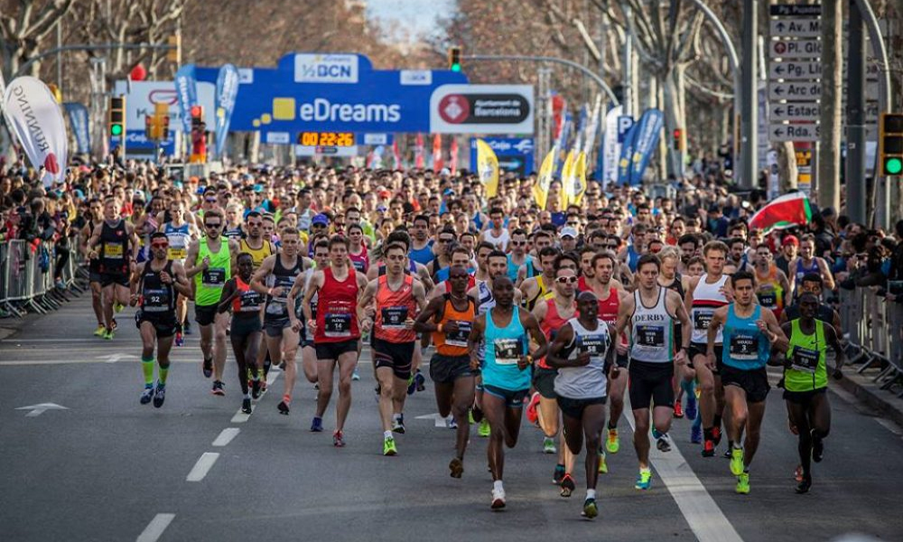 بارسلونا میں میراتھن ،ہزاروں افراد کی شرکت