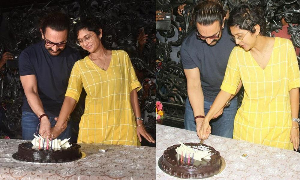 عامر خان نے اپنی 53 ویں سالگرہ کا کیک رہائشگاہ پر کاٹا