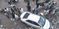 کراچی: رہائشی عمارت کی دوسری منزل سےکار گر گئی، ایک شخص زخمی