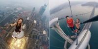 سیلفی کا جنون، نوجوان سینکڑوں فٹ بلند عمارتوں پر جا پہنچا