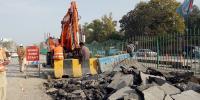 پشاور میں زیر تعمیر بس ریپڈ ٹرانزٹ منصوبے سے اہم شاہراہیں بند
