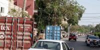 کراچی :نیشنل اسٹیڈیم کےاطراف کی سڑکیں اور گلیاں بند