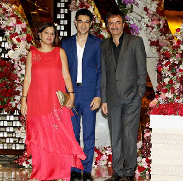 فلم میکر راج کمار ہیرانی اپنی فیملی کے ساتھ