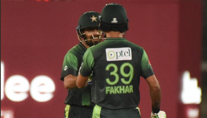 پاکستان نے 10اوورز میں 2وکٹ پر 94 رنز بنالئے