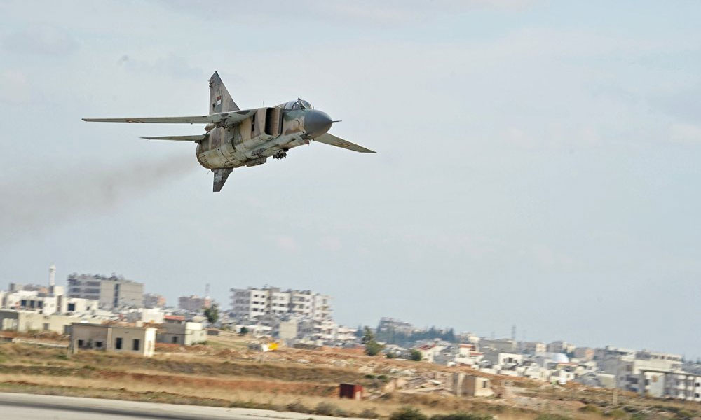 شامی فوج کے حمص اور حما میں 24 گھنٹوں میں 65 فضائی حملے