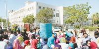 کراچی، جناح اسپتال میں ینگ ڈاکٹروں کا احتجاج