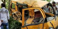 بھارت:اسکول وین اور ٹرین کی ٹکر، 13بچے ہلاک