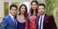 نئی فلم 'نہ بینڈ نہ باراتی' کی کاسٹ امریکا سے کراچی پہنچ گئی