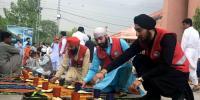پشاور: سکھ اور عیسائی برادری کی جانب سے مسلمانوں کیلئے افطاری کا اہتمام