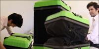 سوٹ کیس صرف کپڑوں کے لئے ہی نہیں بلکہ سواری کیلئے بھی استعمال ہو گا