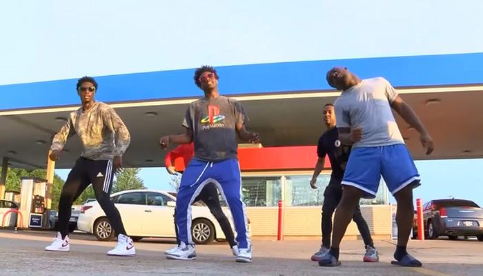 امریکا میں منچلوں کا گیس اسٹیشن پر منفرد انداز میں رقص