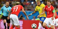 فٹبال ورلڈ کپ : برازیل اور سوئٹزر لینڈ کا میچ برابر