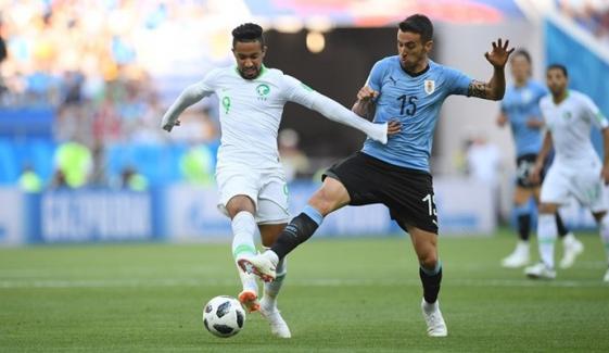 سعودی عرب کو پھر شکست،یوروگوائے اگلے رائونڈ میں