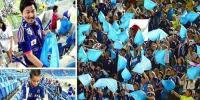 ورلڈ کپ :جاپانی پرستاروں نے اسٹینڈ سے کچرا صاف کر دیا