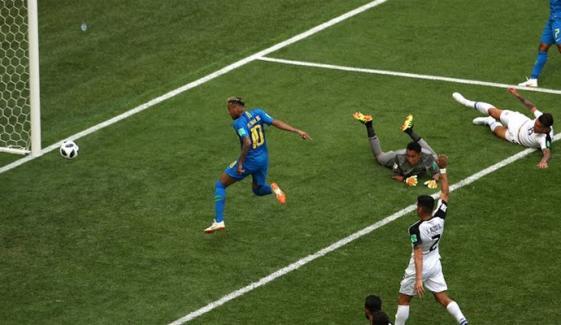 عالمی کپ فٹبال : برازیل نے کوسٹاریکا کو شکست دیدی