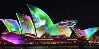 آسٹریلوی شہرسڈنی میں سجا لائٹ شو اختتام پذیر ہو گیا
