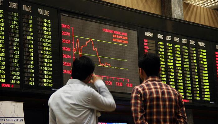 اسٹاک مارکیٹ ہفتے بھر میں 2043پوائنٹس کی کمی