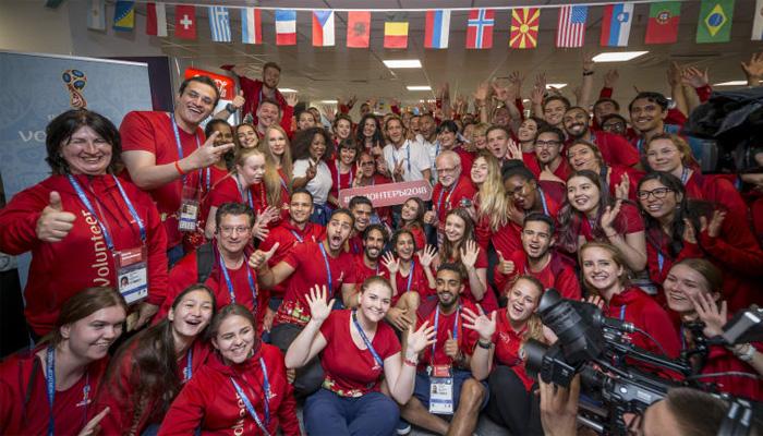 فیفا؛ دنیا بھر سے آئے رضاکاروں کیلئے خصوصی تقریب