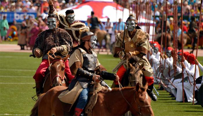منگولیا ، چنگیز خان کی فتوحات کی یاد میں روایتی فیسٹیول