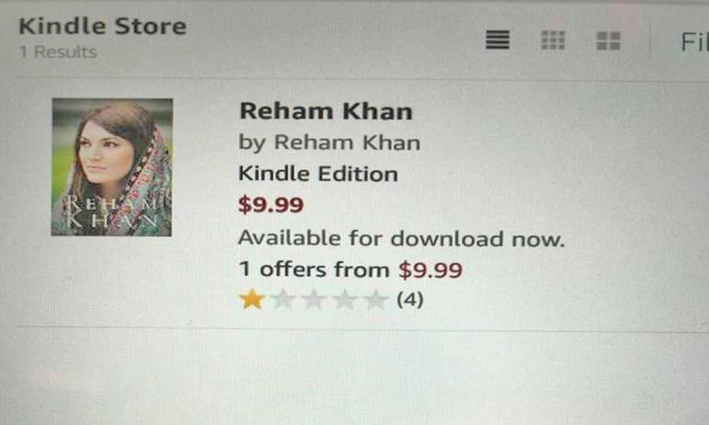 ریحام خان کی کتاب منظر عام پرآگئی