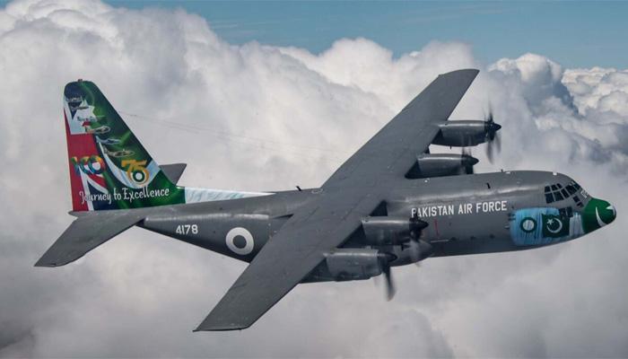 پاک فضائیہ کاطیارہ ائرشو میں مقابلے کے لئے برطانیہ پہنچ گیا