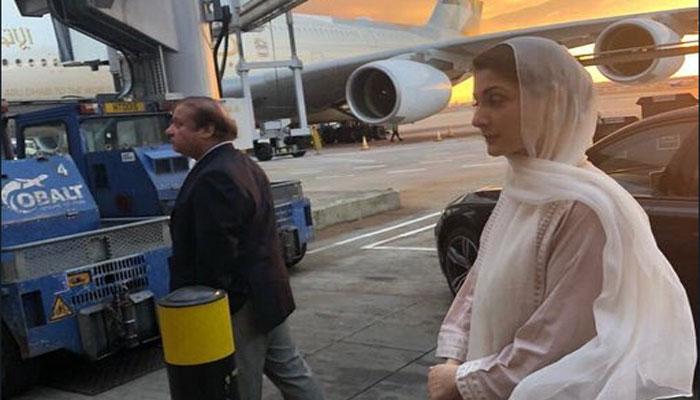 لندن، نواز شریف اور مریم نواز پاکستان کیلئے روانہ