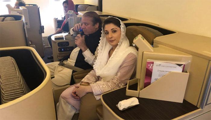 لائیو اپ ڈیٹس: نواز شریف اور مریم نواز طیارہ ابوظہبی سے روانہ