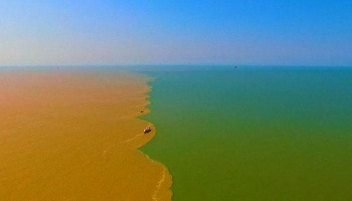 چین کے زرد دریا کا سمندر سے ملاپ