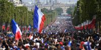فرانسیسی ٹیم کا وطن واپسی پر شاندار استقبال