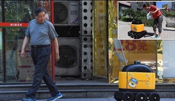 چین میں اسنیکس ڈلیوری روبوٹ متعارف