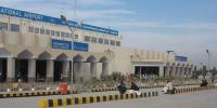 پشاور ایئر پورٹ پر ہیلی کاپٹر کی کریش لینڈنگ