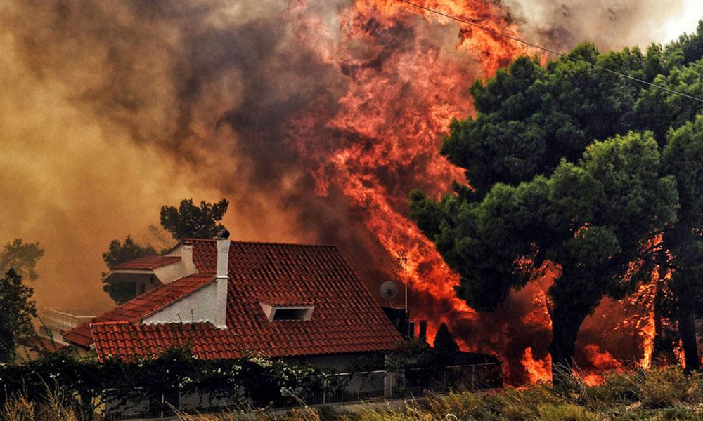 ایتھنز کے قریب لگی آگ سے 91 افراد ہلاک