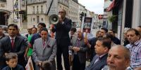 برسلز ، بھارتی سفارت خانے کے سامنے احتجاجی مظاہرہ