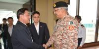 جنرل وانگ کی ڈی جی رینجرز سندھ سے ملاقات