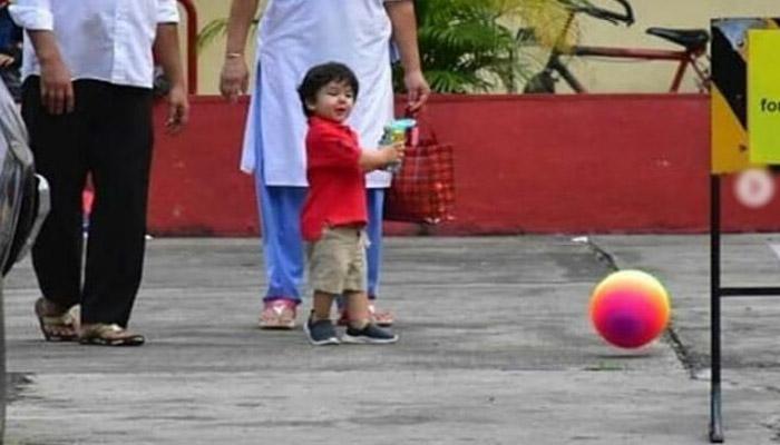 ننھے تیمور نے فٹبال کھیلی ،تصویر سوشل میڈیا پر وائرل