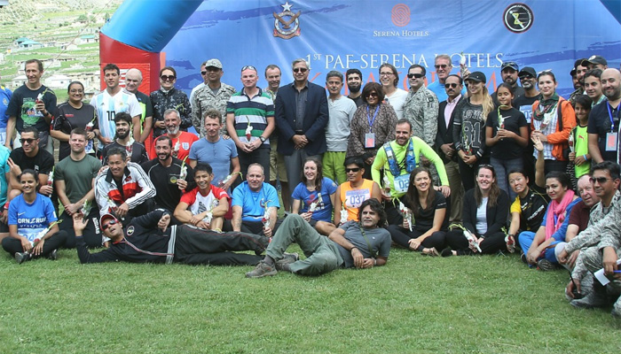 گلگت:پی اے ایف نلتر کے زیراہتمام پہلی عالمی قراقرم میراتھن کا اختتام
