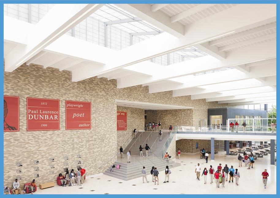 ''ڈَنبارسینئرہائی اسکول''منفرد ڈیزائن کا حامل تعمیراتی شاہکار