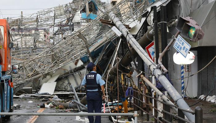 جاپان: طوفان جیبی نے تباہی مچادی ،حادثات میں6 افراد ہلاک