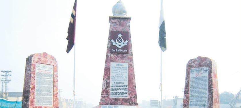 دفاعِ وطن کے بہادر فوجی جوانوں کی یادگاریں