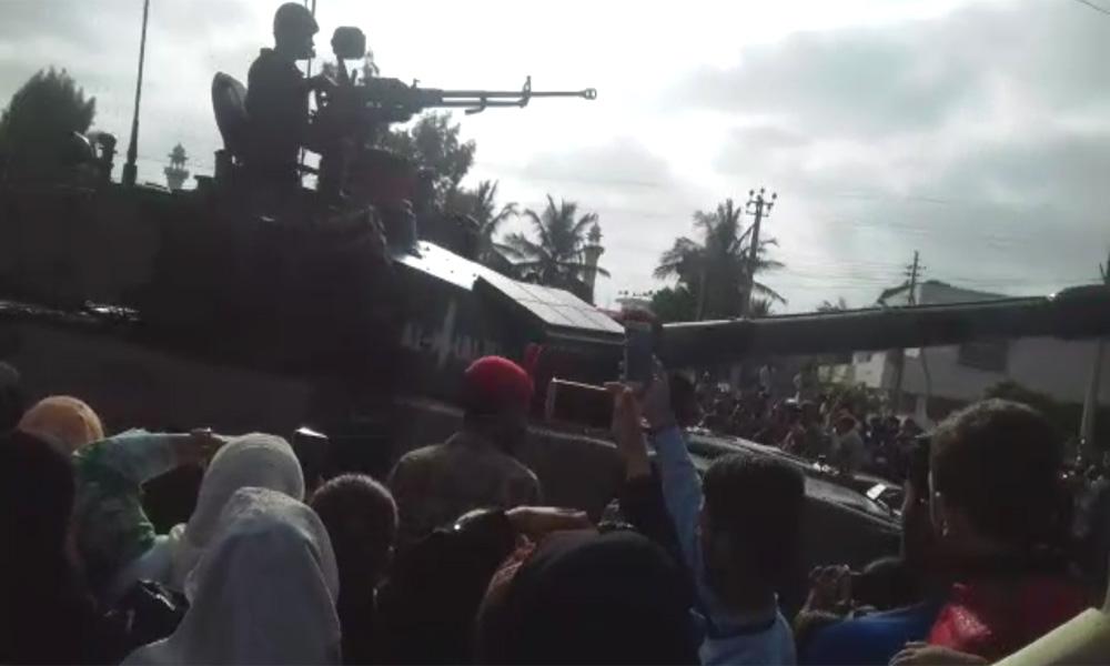یوم دفاع، ملیر چھاؤنی کراچی میں ٹینکوں اور اسلحے کی نمائش