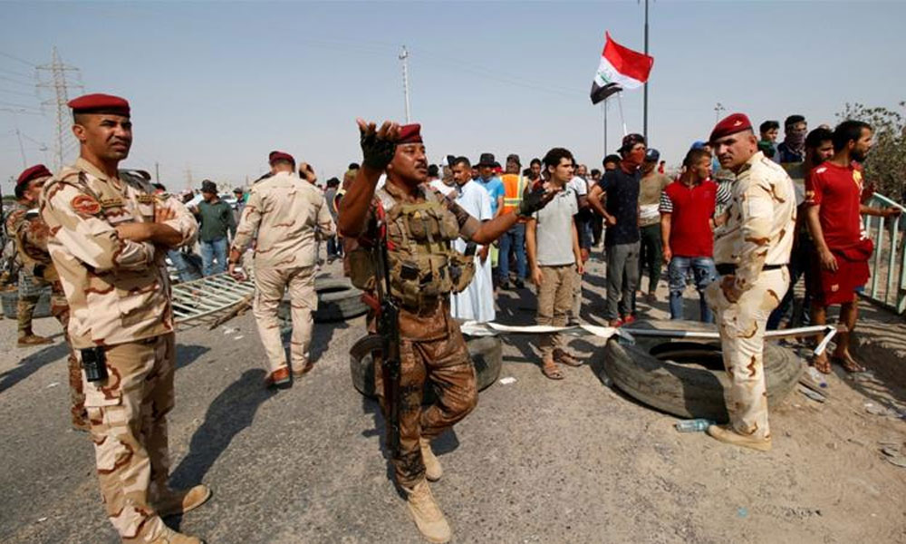 بصرہ میں پرتشدد مظاہروں کے بعد کرفیو نافذ