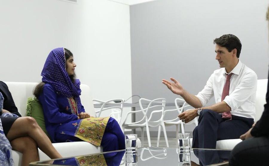 ملالہ یوسف زئی کی کینیڈین وزیراعظم سے ملاقات