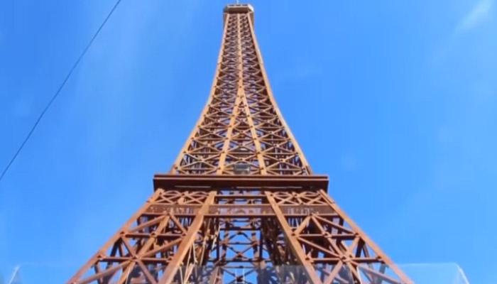 ماہر فنکار نے لٹل ایفل ٹاور بنا ڈالا