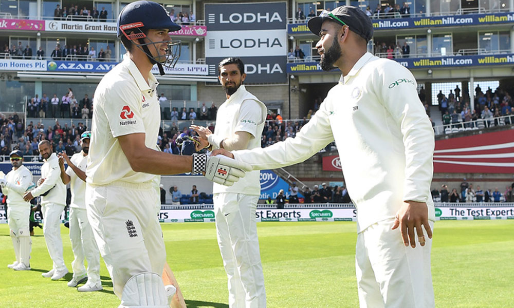 بھارت کیخلاف ٹیسٹ کے پہلے دن انگلینڈ نے 198 رنز بنا لیے
