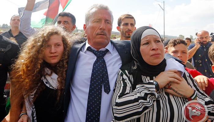 اسرائیلی فوجی کو تھپڑ مارنے والی لڑکی کے سفر پر پابندی عائد