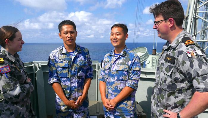 آسٹریلوی بحری فوجی مشقوں میں چین کی شرکت