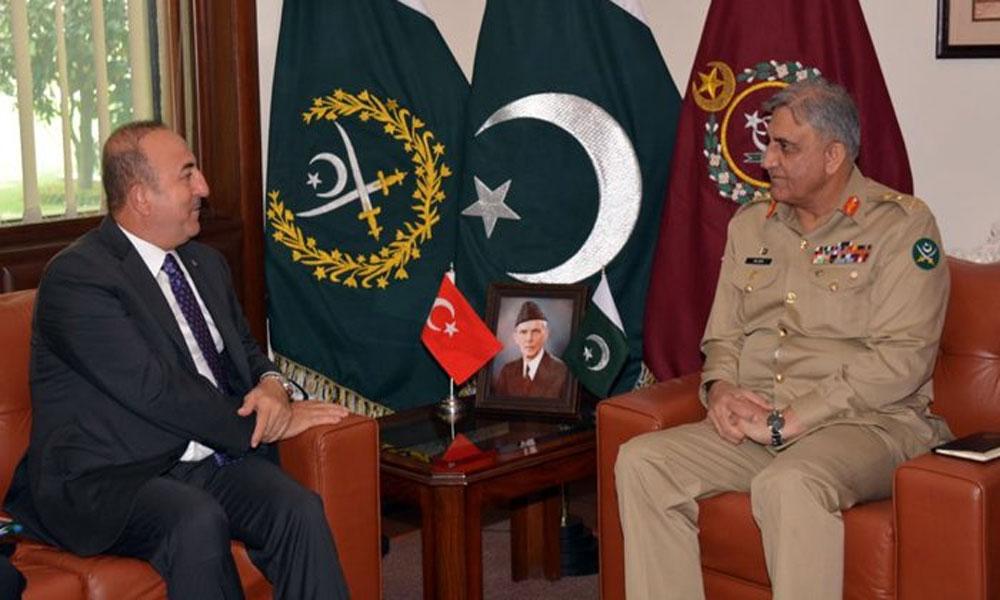 آرمی چیف کی ترک وزیر خارجہ سے ملاقات