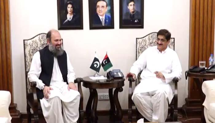 سندھ اور بلوچستان کے وزرائے اعلیٰ کی پہلی باضابطہ ملاقات