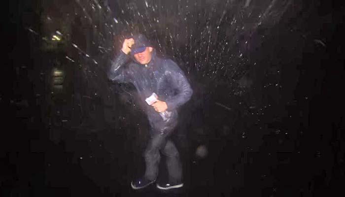طوفانی ہواؤں اوربارش نے لائیو کوریج امتحان بنا دی